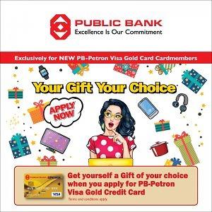 PB-Petron Visa Gold Credit Card – Your Gift Your Choice