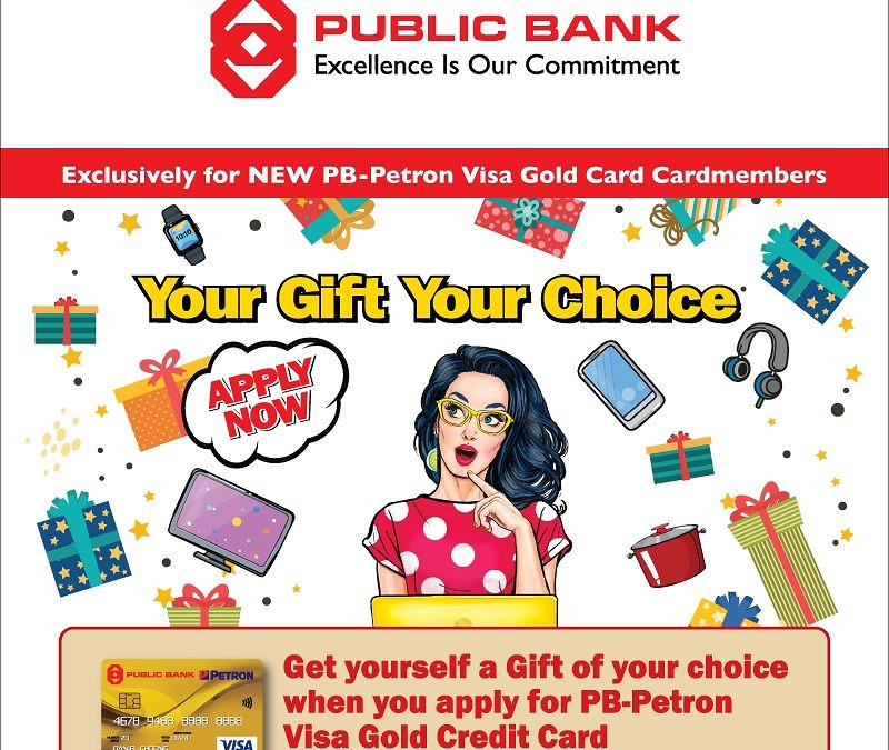 PB-Petron Visa Gold Credit Card – Your Gift Your Choice