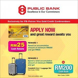Apply PB-Petron Visa Gold Credit Card and Great Rewards Await You