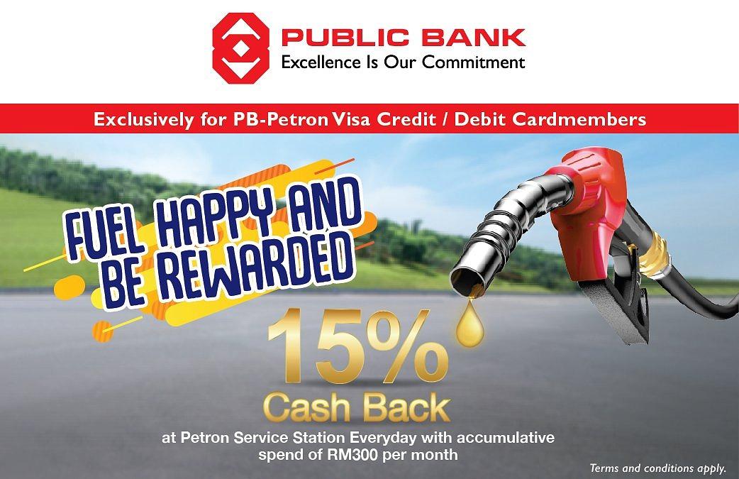 PB Petron – 15% Cash Back on Petron Fuel Transaction Everyday