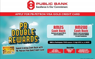 Double Rewards with PB-Petron Visa Gold Credit Card