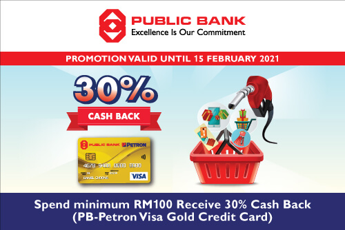 SPEND&RECEIVE 30% CASHBACK (PB-PETRON VISA GOLD)