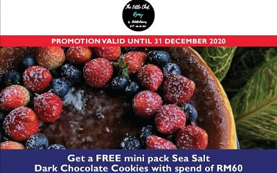 FREE mini Sea Salt Dark Choc Cookies with RM60 min