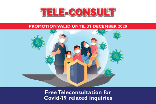 FREE TELECONSULT FOR COVID-19 RELATED