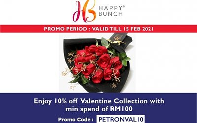 ENJOY 10% OFF FOR HappyBunch VDAY COLLECTION WITH PETRONVAL10
