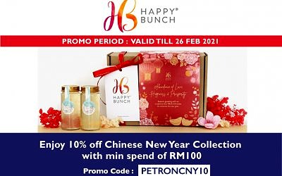 ENJOY 10% OFF FOR HappyBunch CNY COLLECTION WITH PETRONCNY10