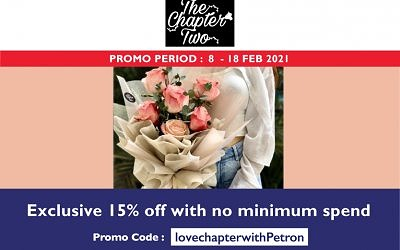 EXCLUSIVE 15% OFF WITH NO MINIMUM SPEND WITH PROMO CODE lovechapterwithpetron