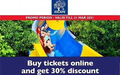 BUY ESCAPE PARK TICKETS ONLINE & GET 30% OFF